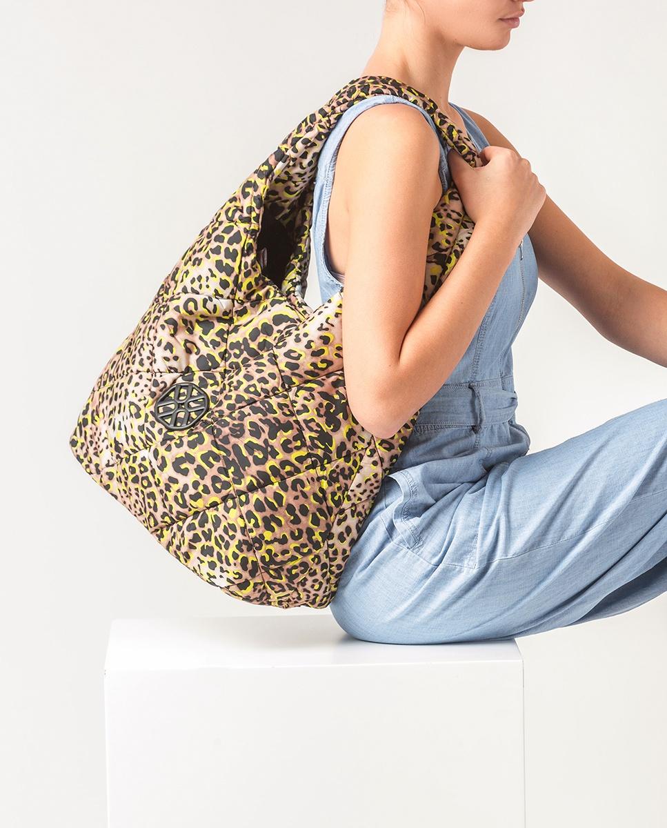 UNISA Fluor fabric hobo bag ZWIND_ACL lime 2