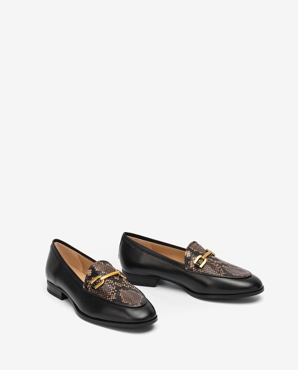 UNISA Contrast loafers DAIMIEL_F20_NA_VIP blk/moka 2