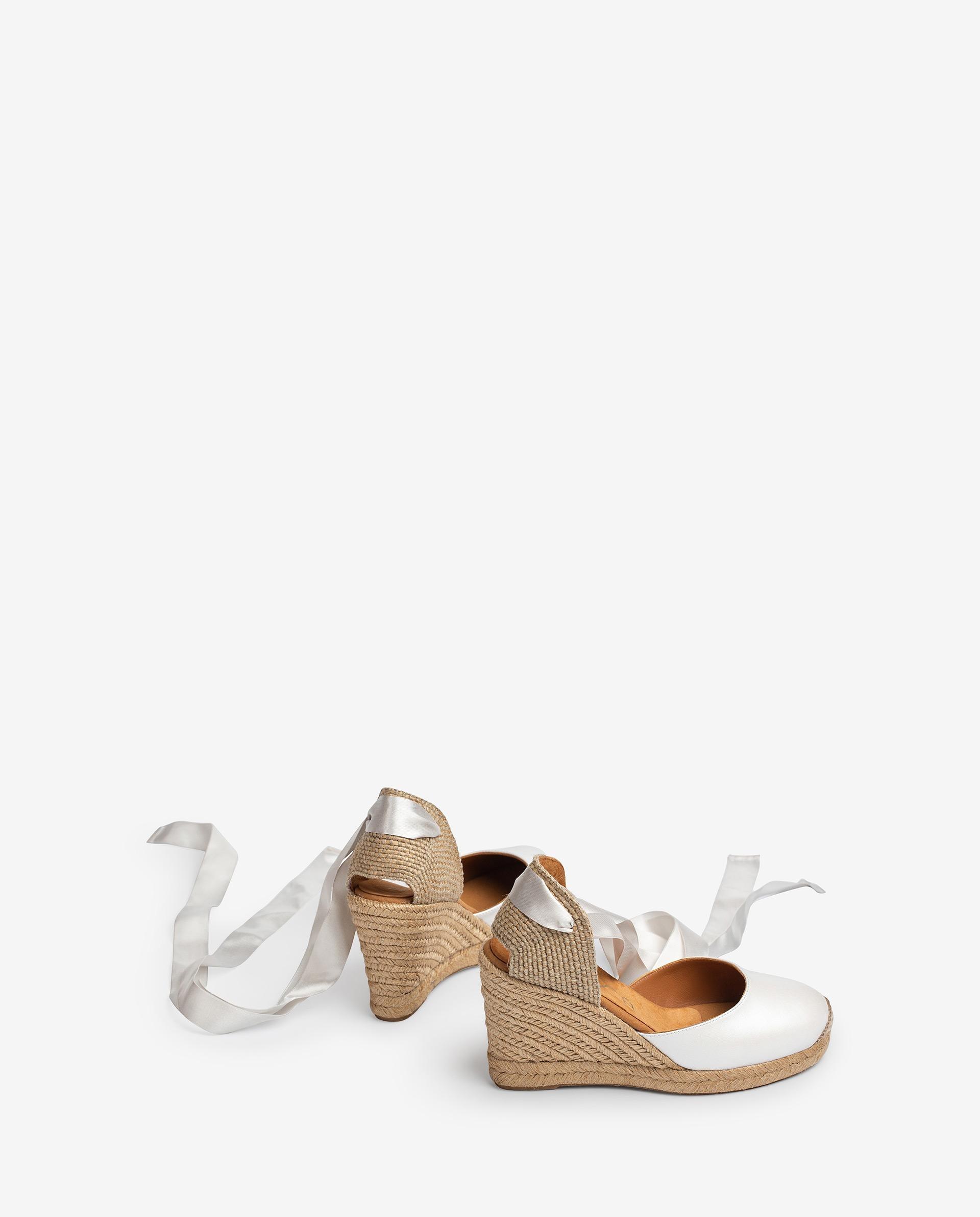 UNISA Bridal leather heel espadrilles CLENY_NA_N 2
