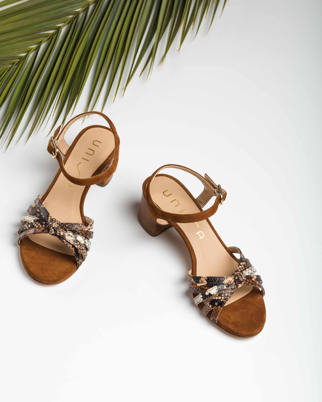 UNISA Snake contrast straps sandals GRATA_VIP_KS tek/sun/na 2