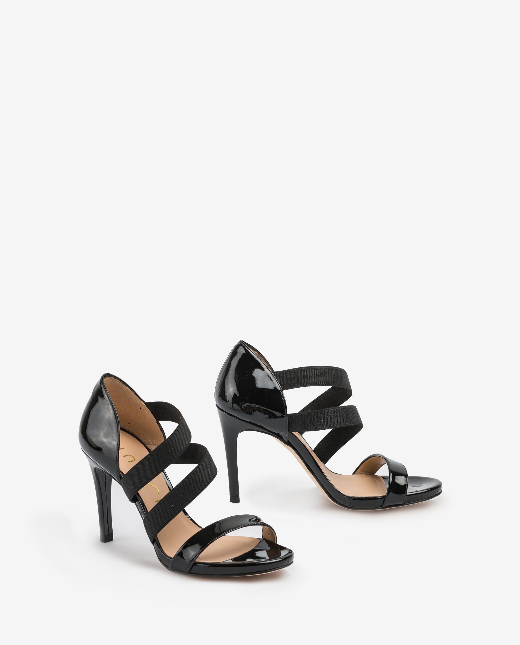 UNISA Black elastics heel sandals YERNO_PA black 2