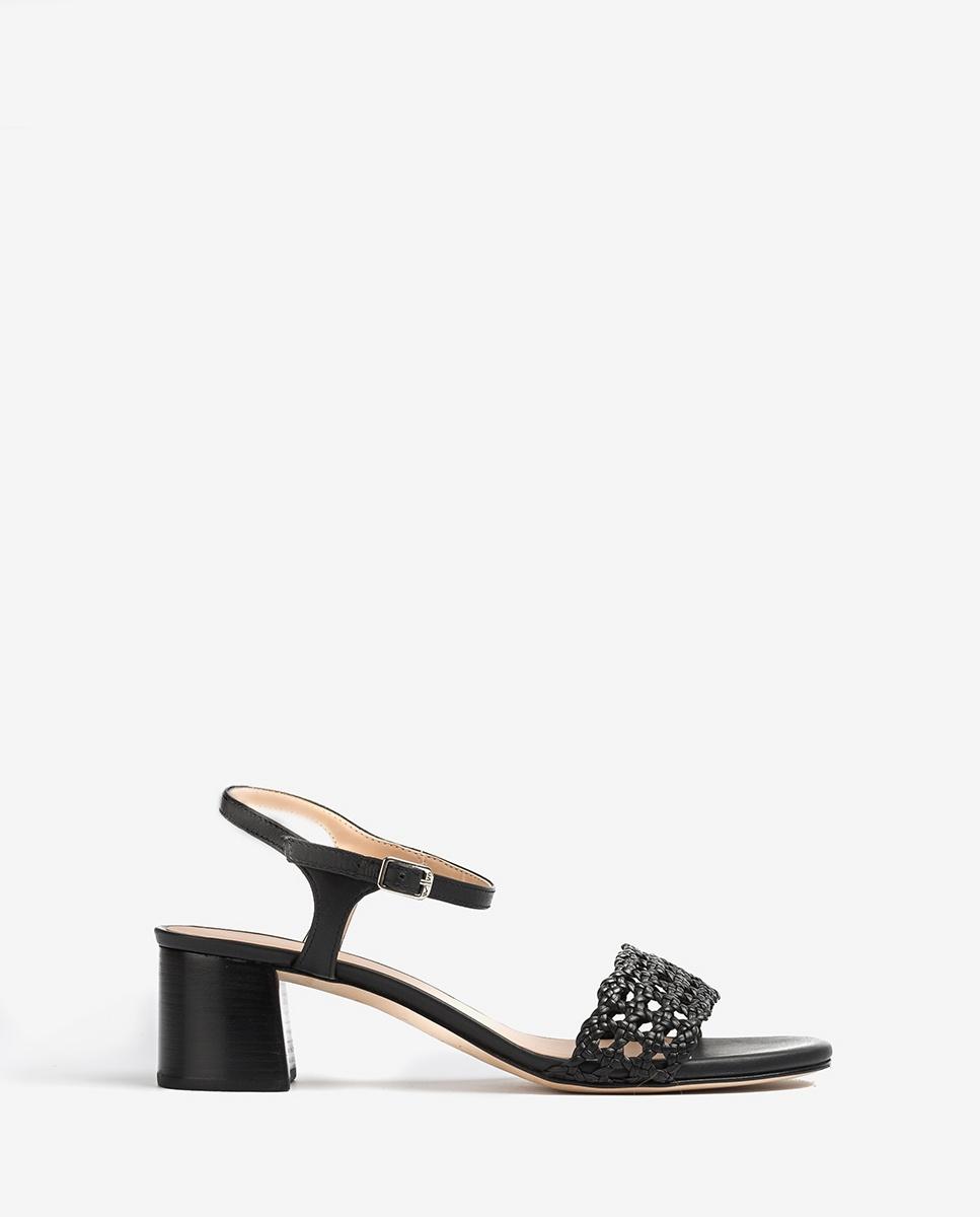 UNISA Sandals braided fabric GITA_NA black 2