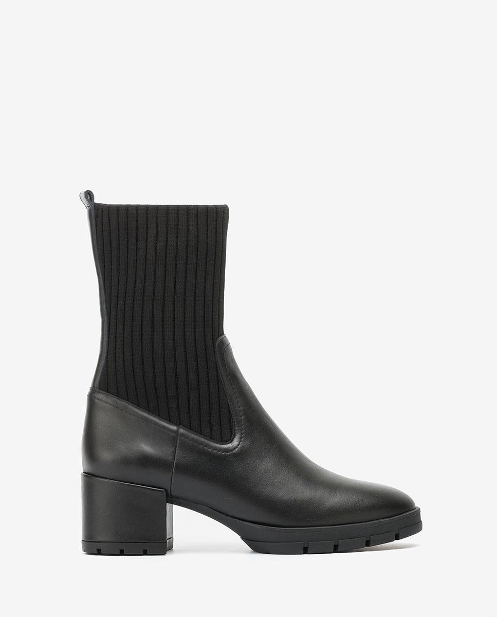 UNISA Botín negro con calcetín JESE_NF black