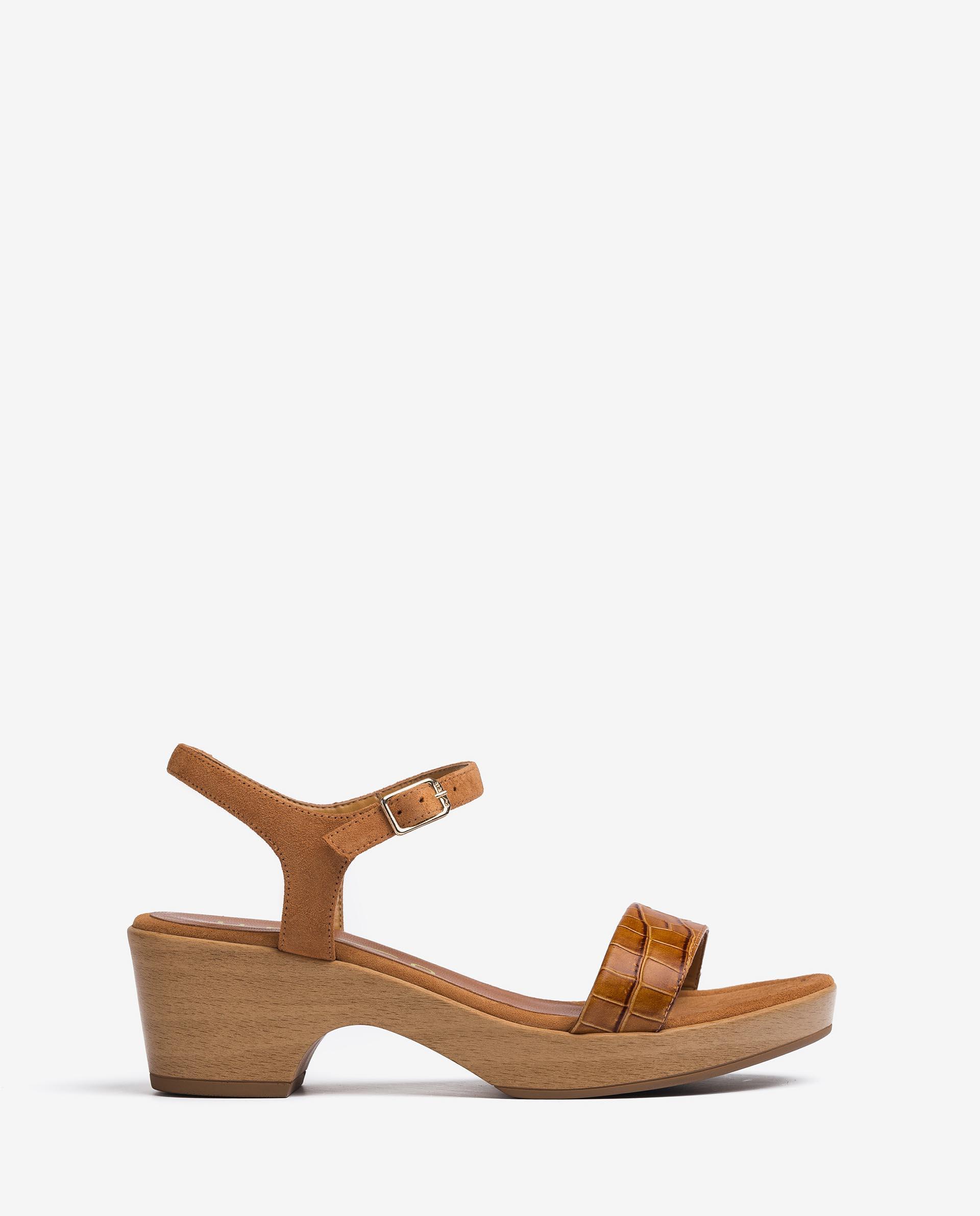 UNISA Croc effect block sandals IRITA_21_LAU_KS 2