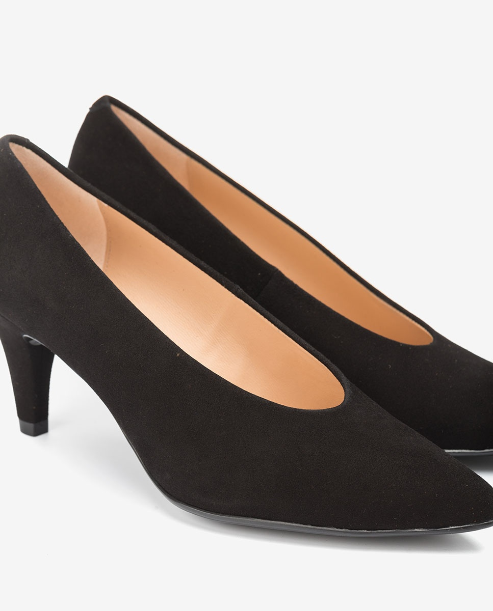 UNISA High cut kid suede pumps KAPELA_KS black 2