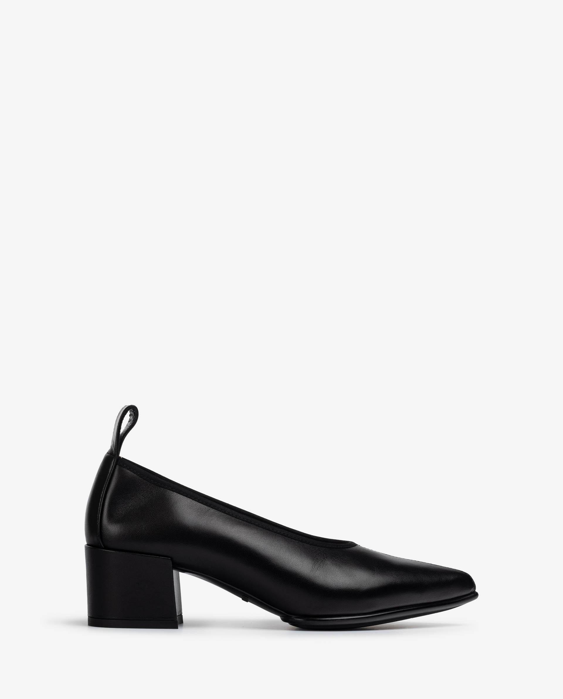 UNISA Medium heel leather pumps with stitching detail JARIFO_VU 2