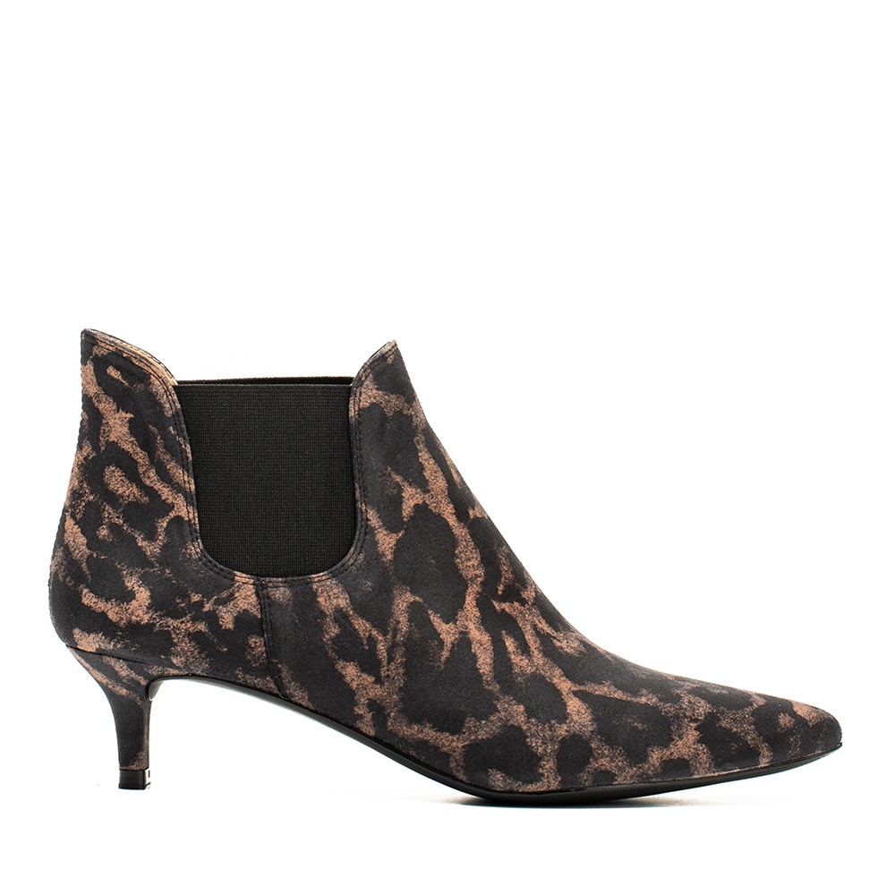UNISA Kitten heel booties in animal print JACINTA_JA tan 2