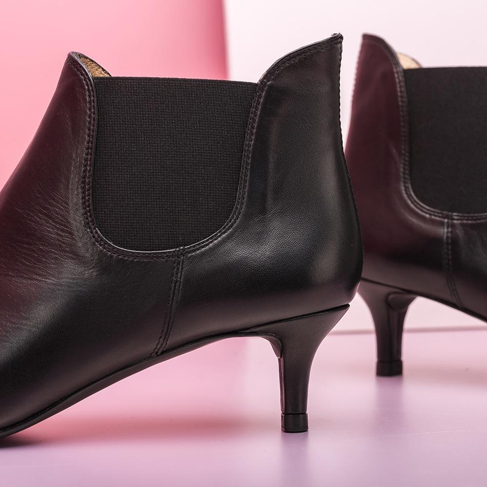UNISA Black kitten heel booties JACINTA_NA black 2