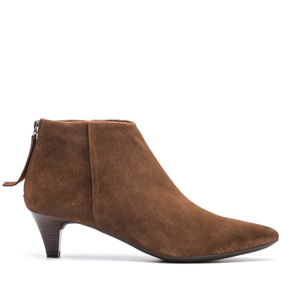UNISA Kitten heel brown booties JUDIT_KS livanto 2