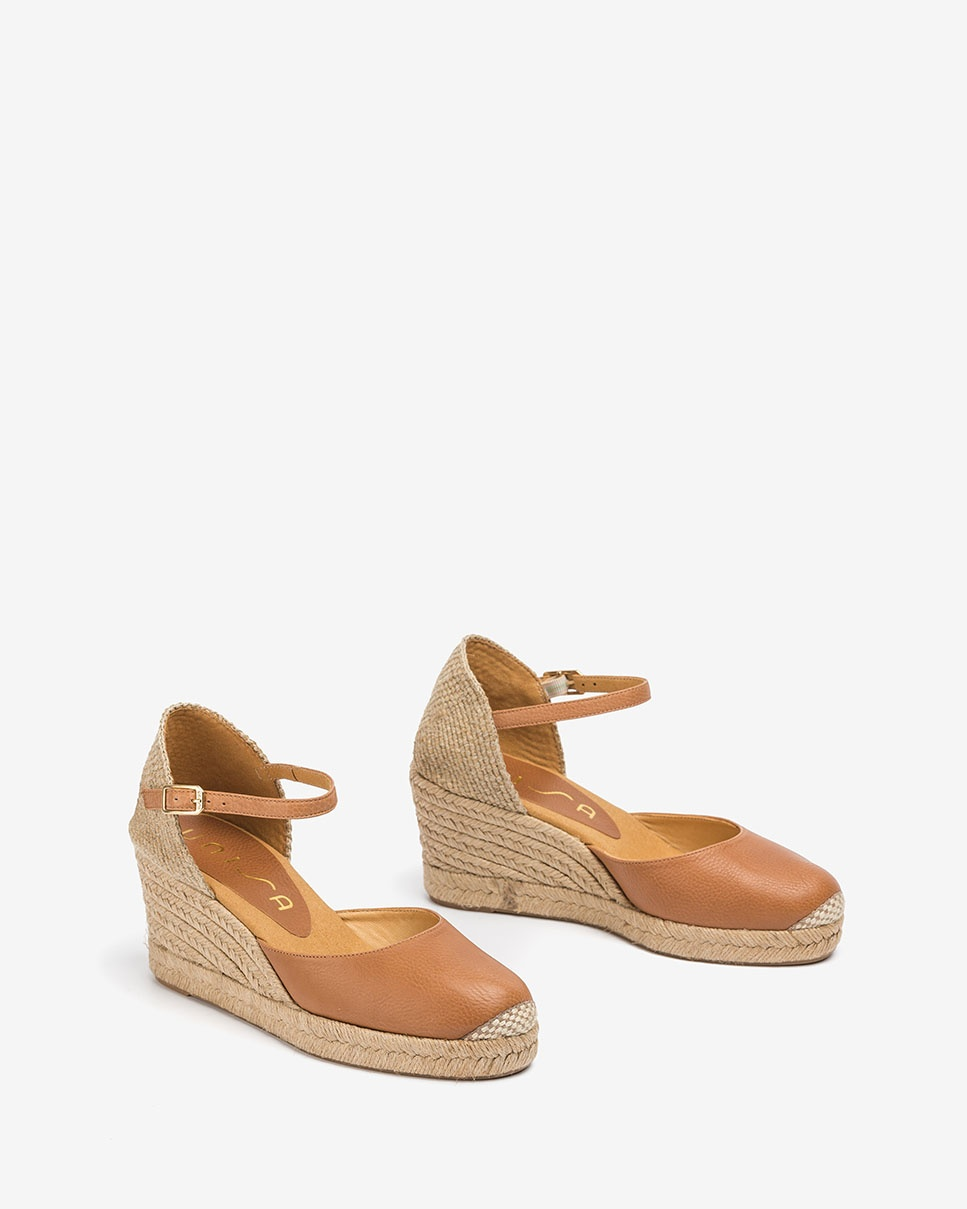 UNISA Leather and jute espadrilles CACERES_20_STY bisquit 2