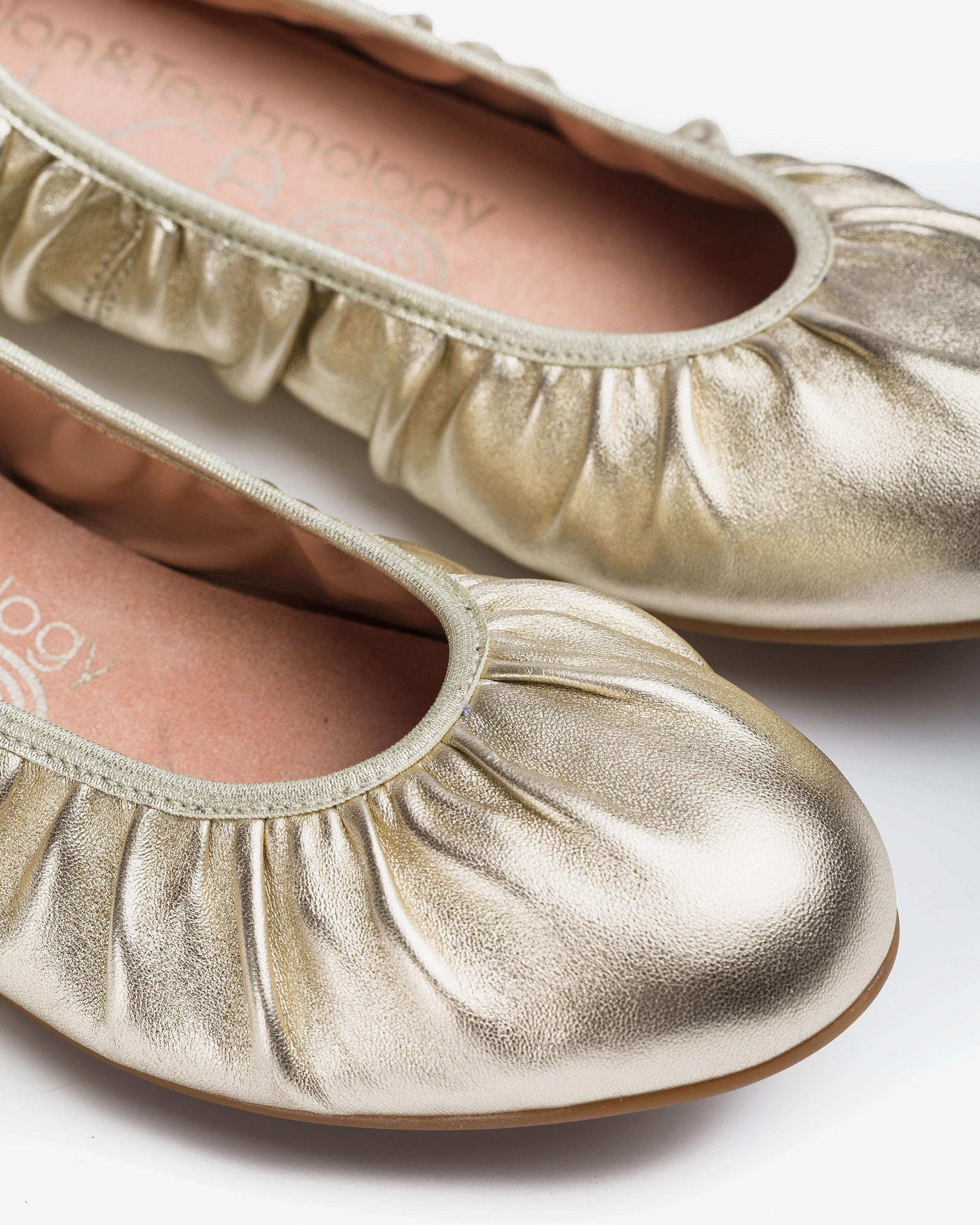 UNISA Shiny fabric ballerinas ABELLA_LMT 2