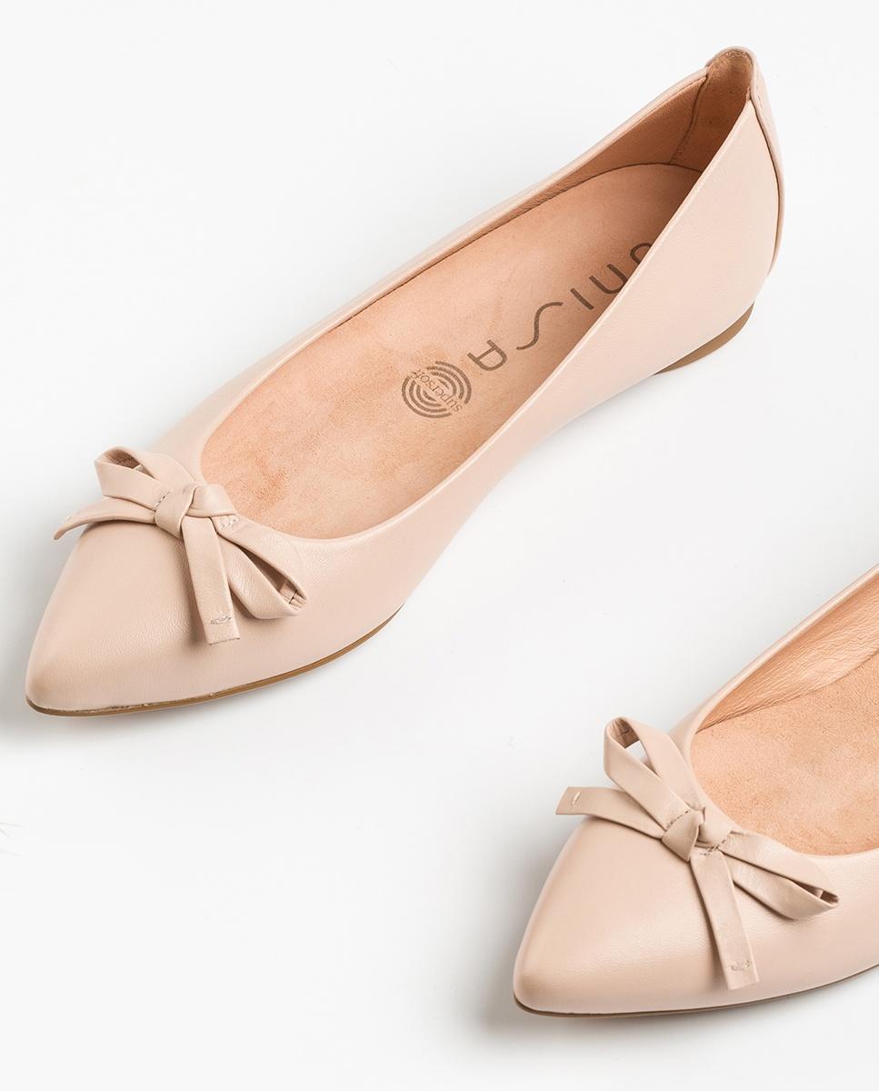 UNISA Pointy toe leather ballerinas ABENO_NA pale 2