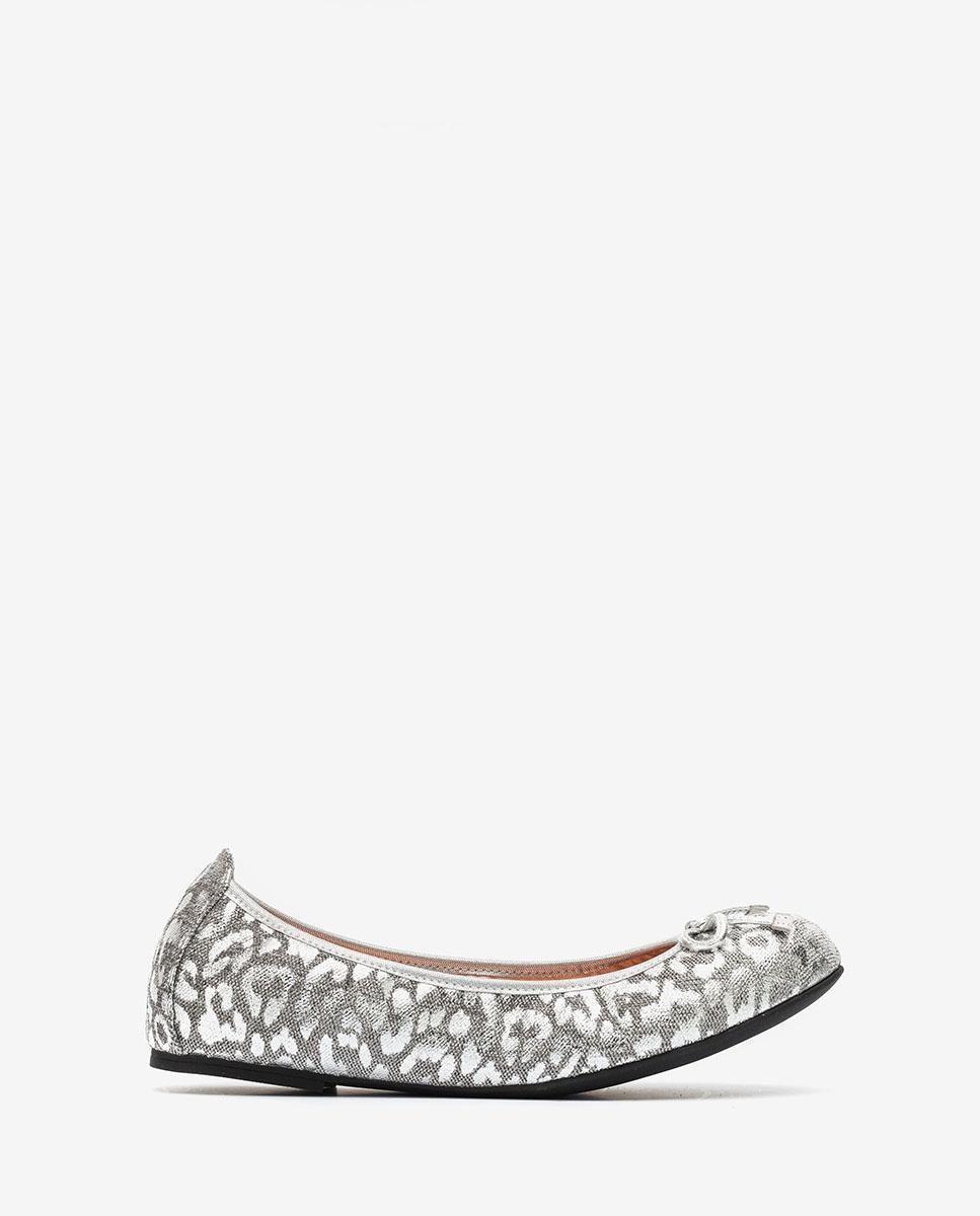 UNISA Silver leopard ballerinas ACOR_F20_LUX silver 2