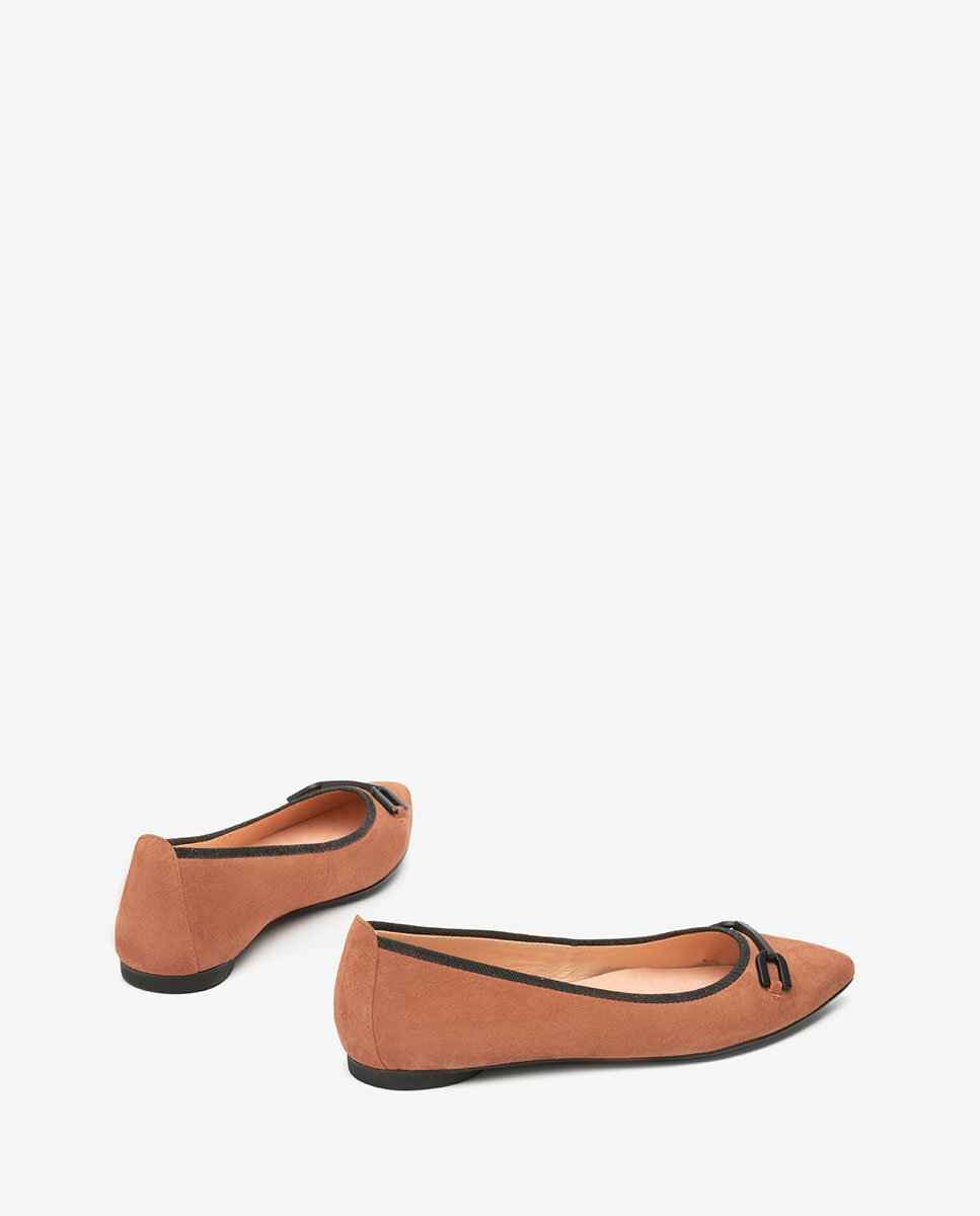 UNISA Pink pointy toe ballerinas ADONIA_KS tiffany 2