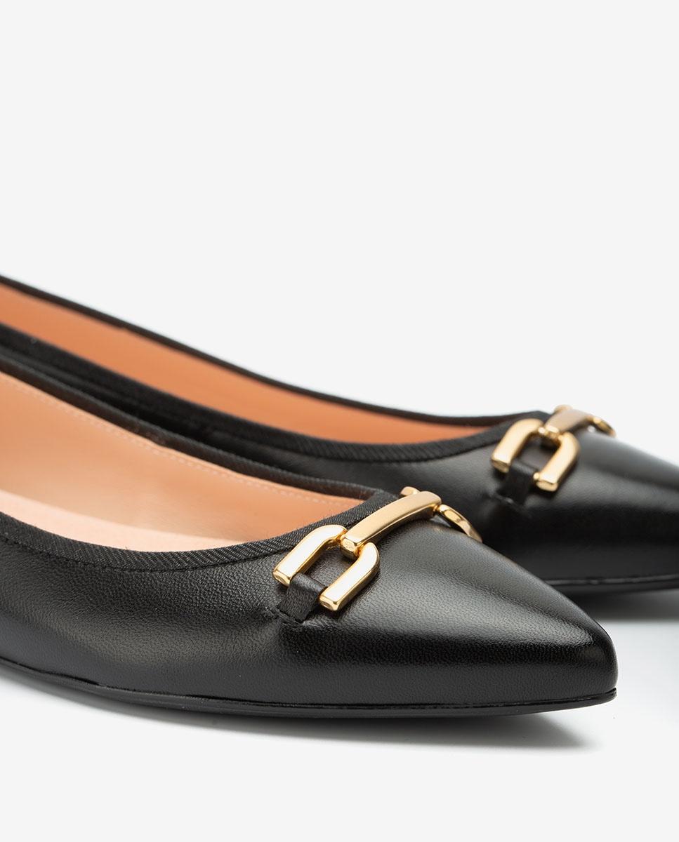 UNISA Pointy toe black ballerinas ADONIA_NA black 2