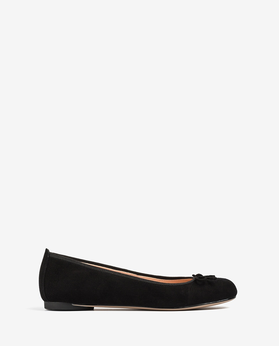 UNISA Black kid suede ballerinas ADRIANA_20_KS black 2