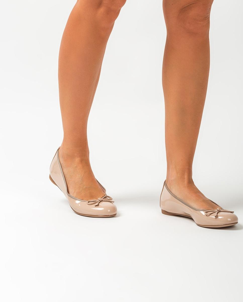 UNISA Nude patent leather ballerinas ADRIANA_20_PA nude 2