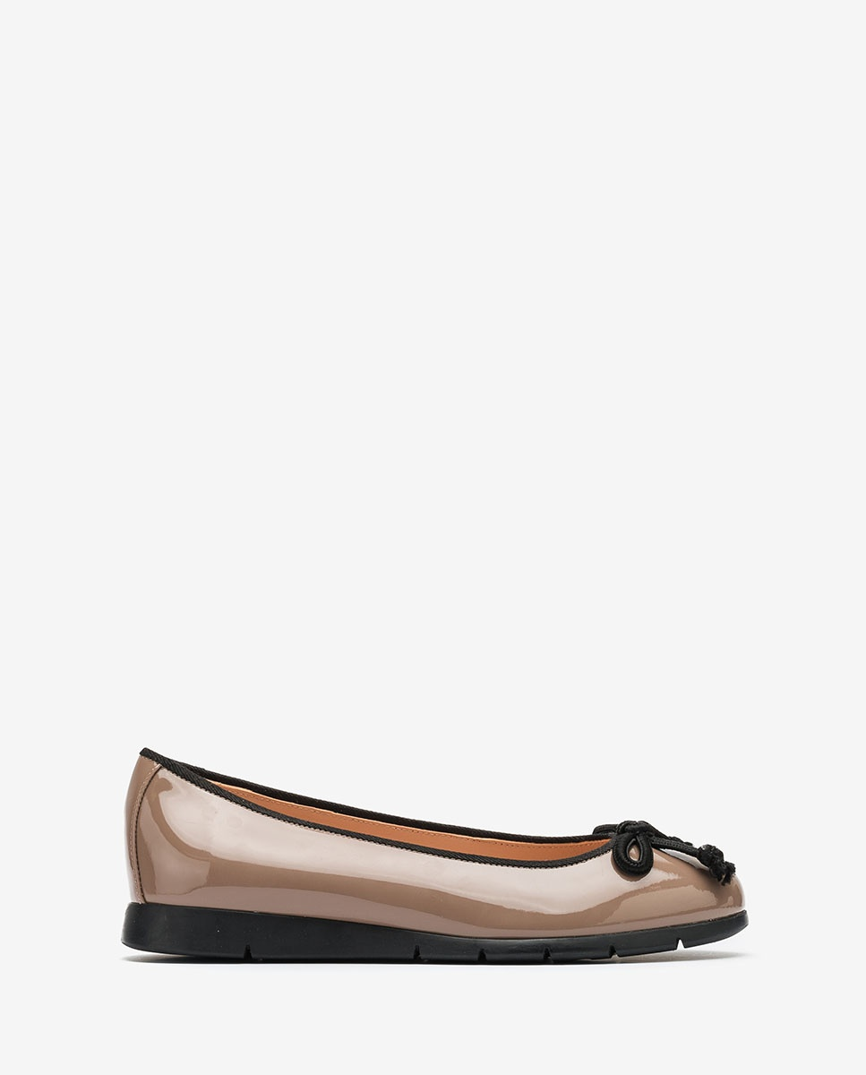 UNISA Nude patent leather ballerinas ALCOT_F20_PA shade 2