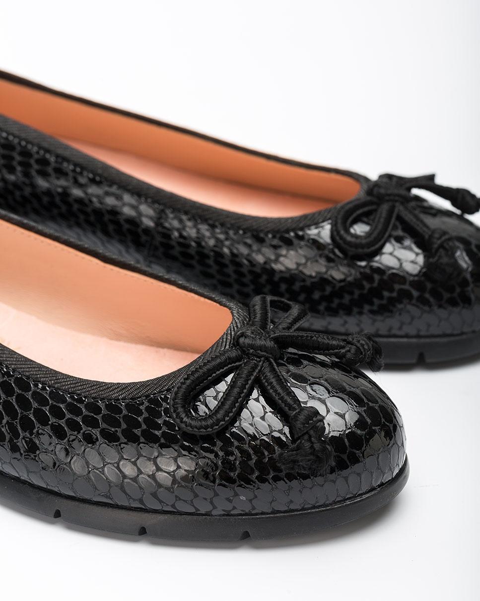 UNISA Black snake engraved  ballerinas ALCOT_F20_VSH black 2