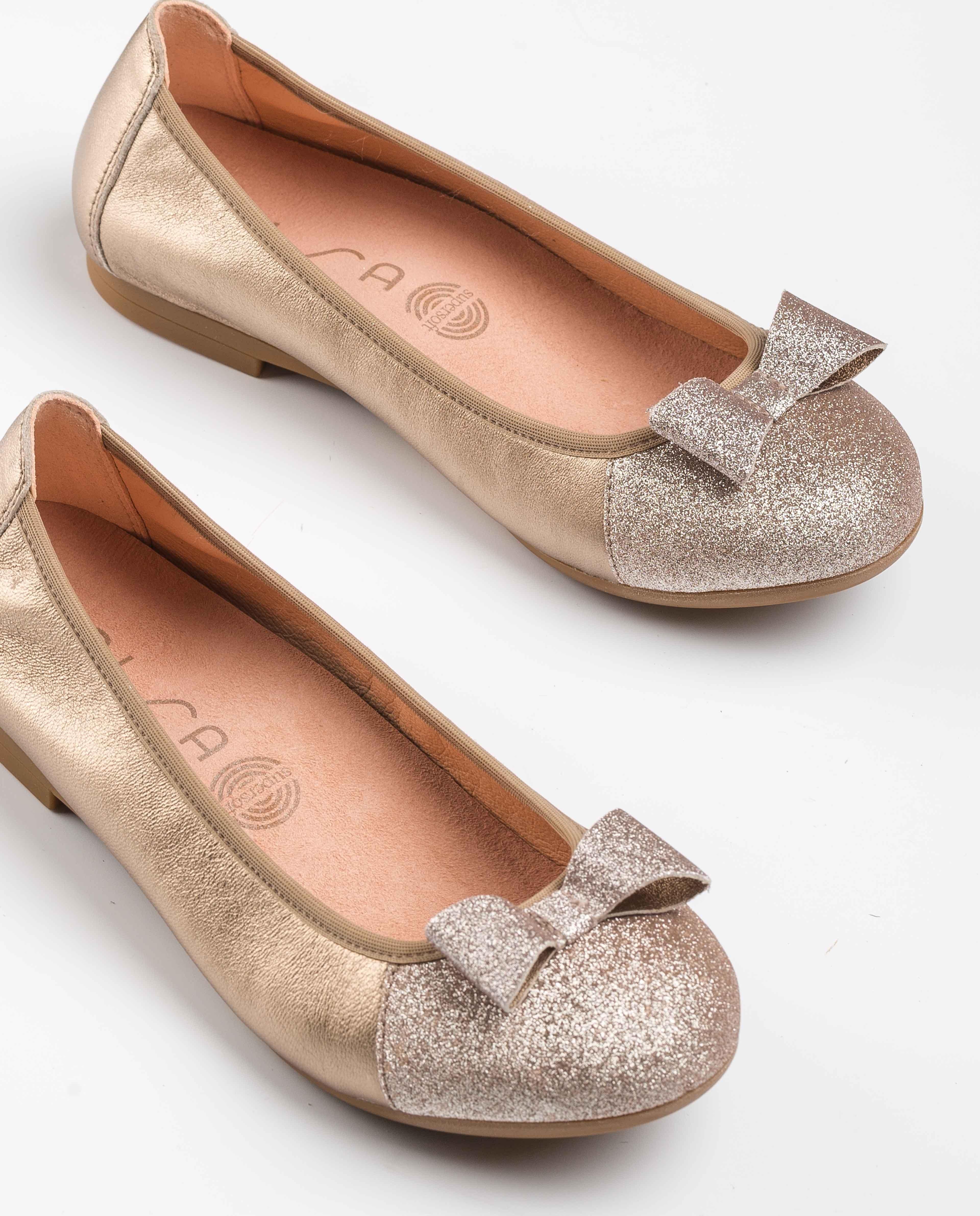 UNISA Copper metal effect ballerinas CORY_LMT_SI mumm 2