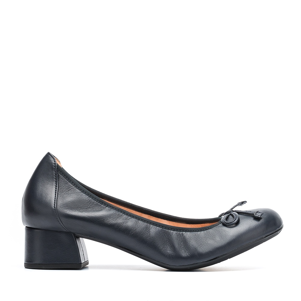 UNISA Leather heeled ballerinas LACOR_F19_NS abyss 2