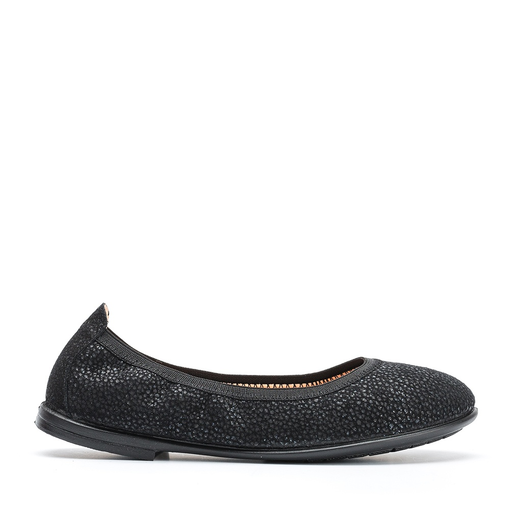 UNISA Little girl´s engraved shiny leather ballerinas SABRINA_F19_VIA black 2