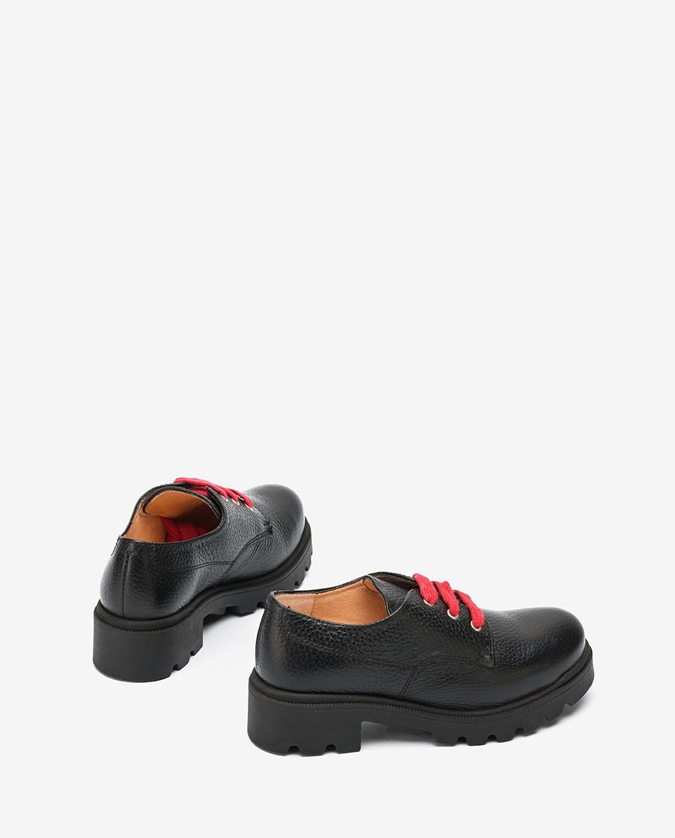 UNISA Little girl´s black bluchers with laces PUNE_F20_MM black 2