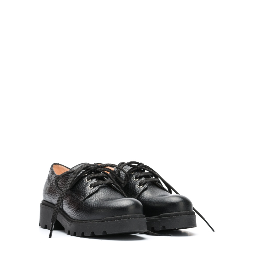 UNISA Little girl´s black bluchers with red laces PUNE_MM black 2