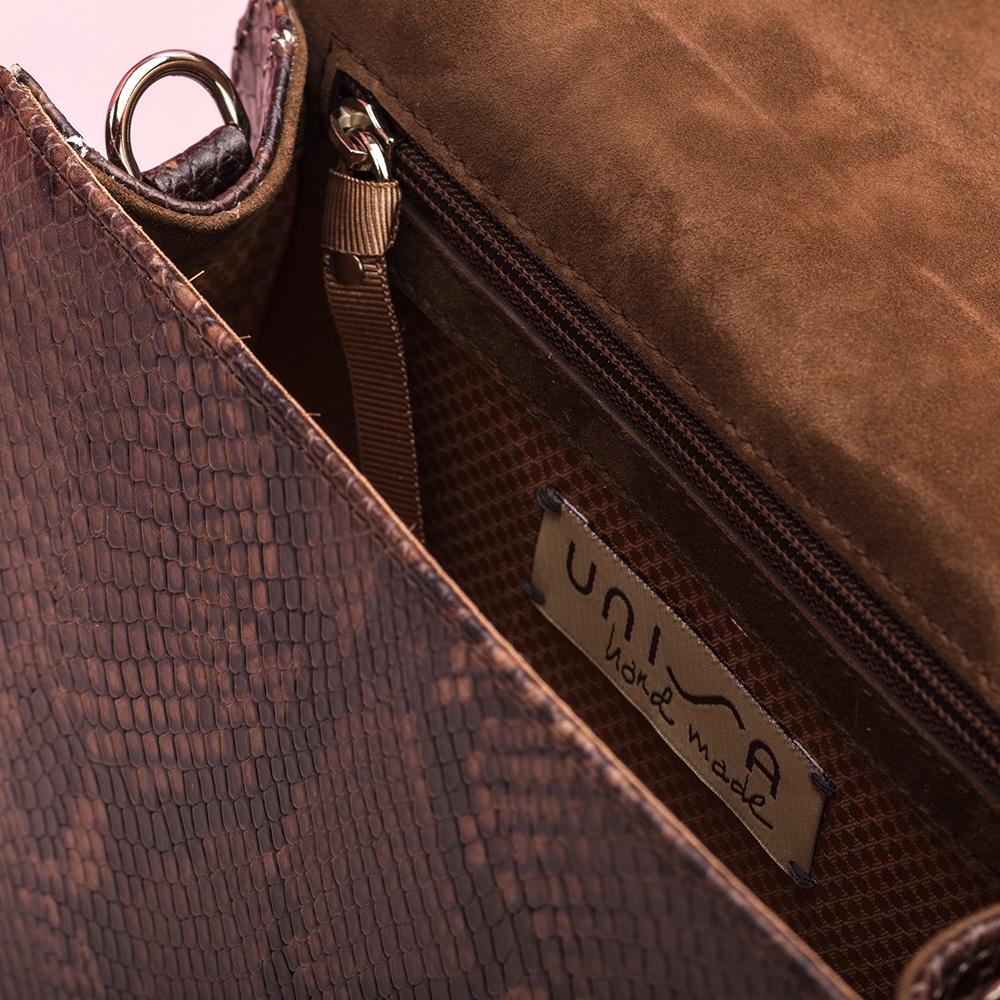 UNISA Snake print shoulder bag with studs ZCORILO_VP livanto 2