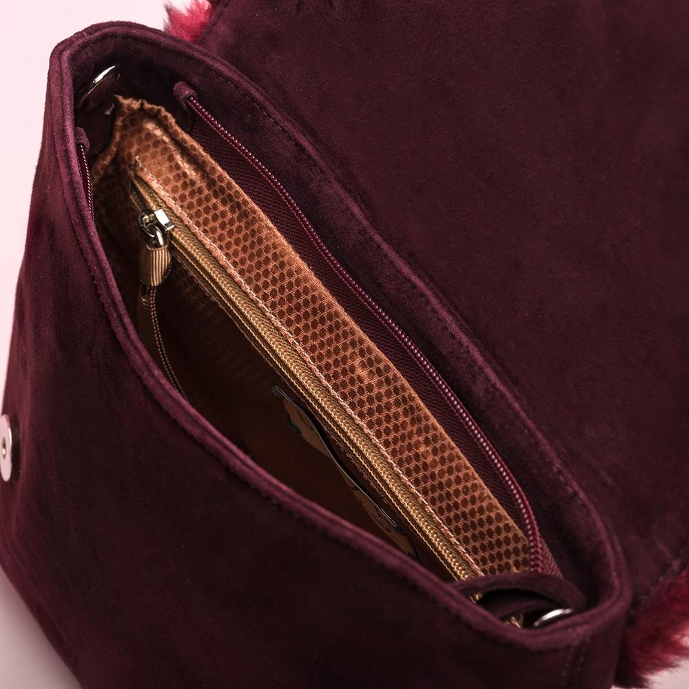 UNISA Shoulder bag garnet fur flap ZCOPES_KS_RR grape 2
