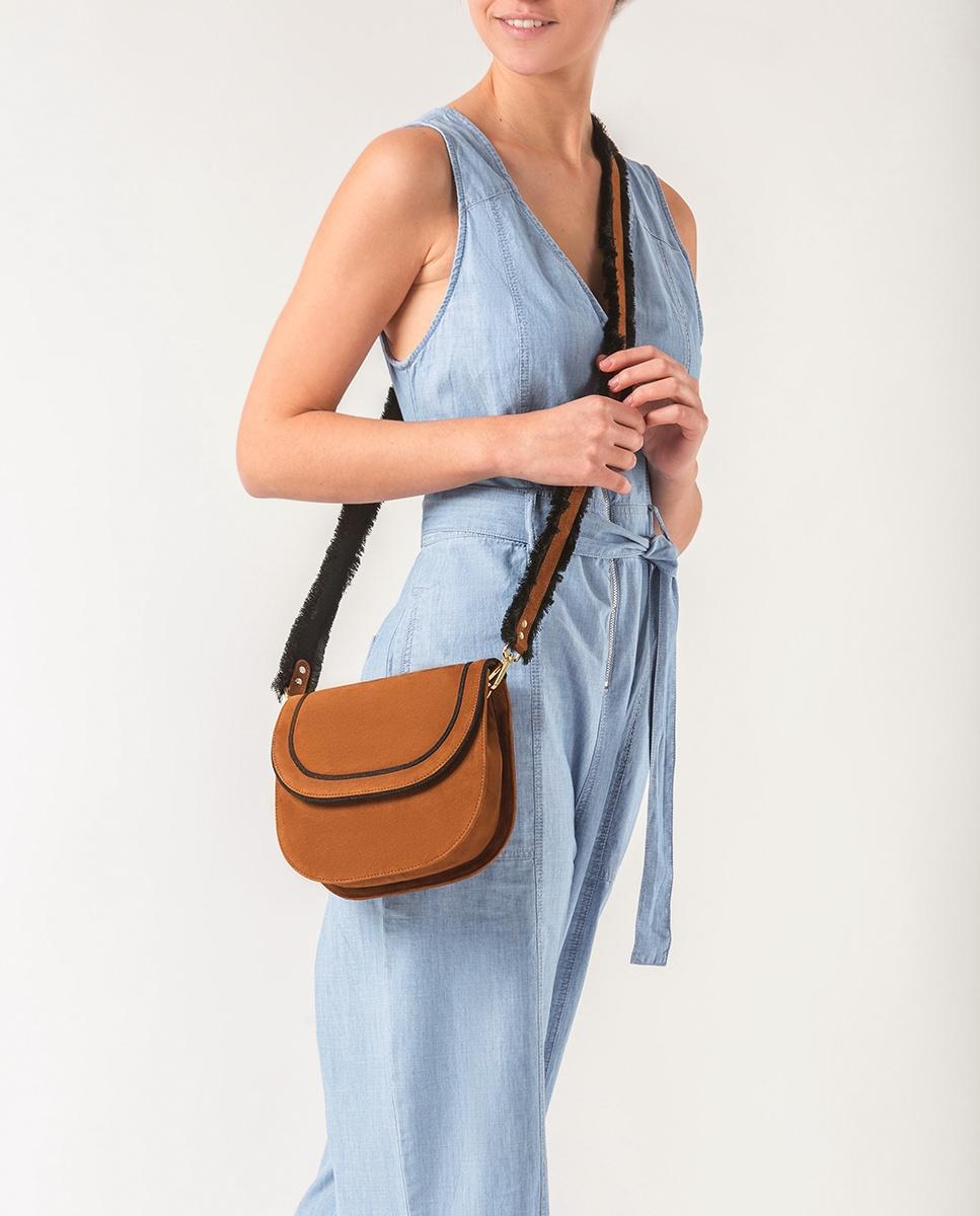 UNISA Fringes contrast shoulder bag ZKIKA_KS argan 2