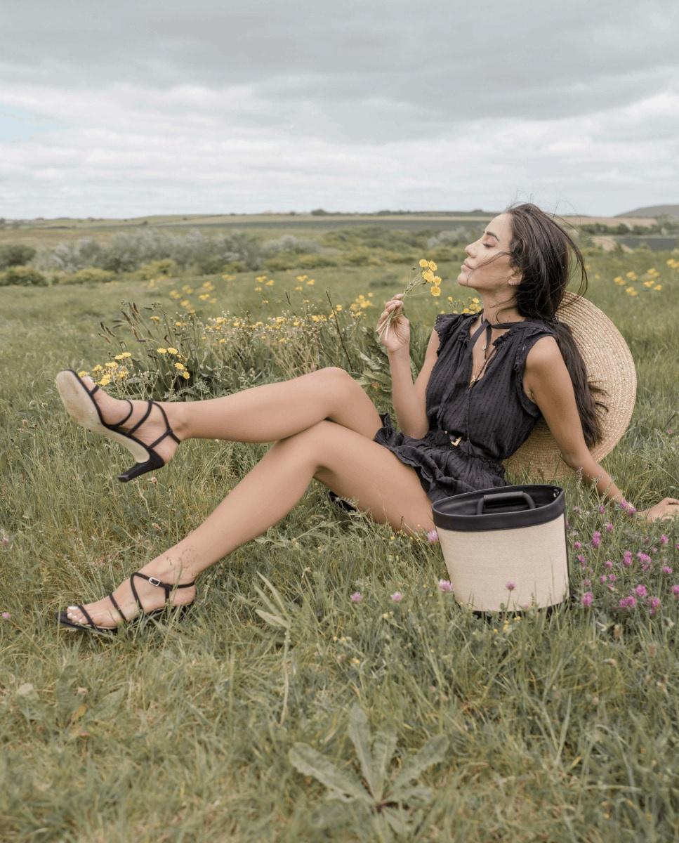 Unisa Shoulder bag ZNADIA_NT_RGR black/natu
