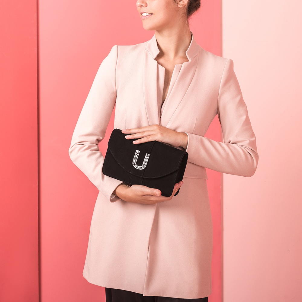 UNISA Monogram handbag ZCELICA_KS black 2