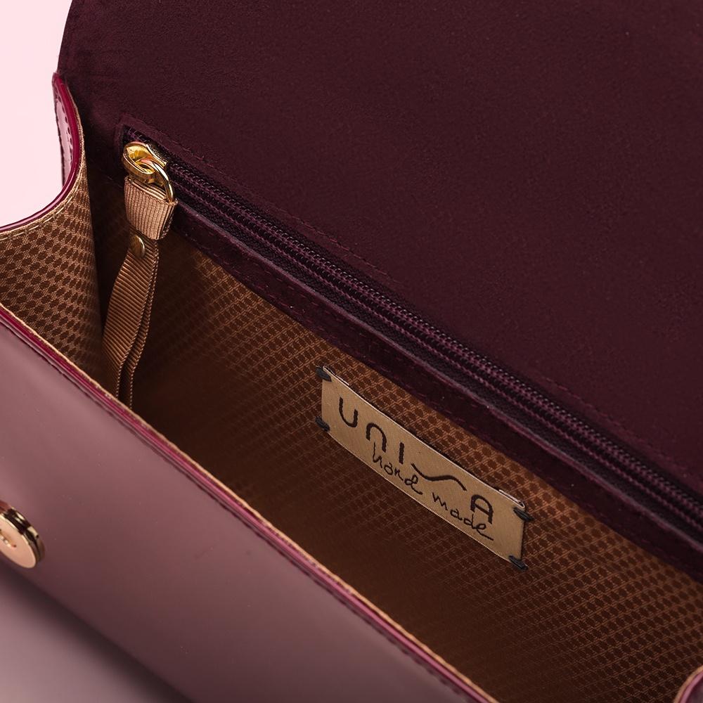 UNISA Patent leather handbag ZCHARLOTE_PA red velvet 2