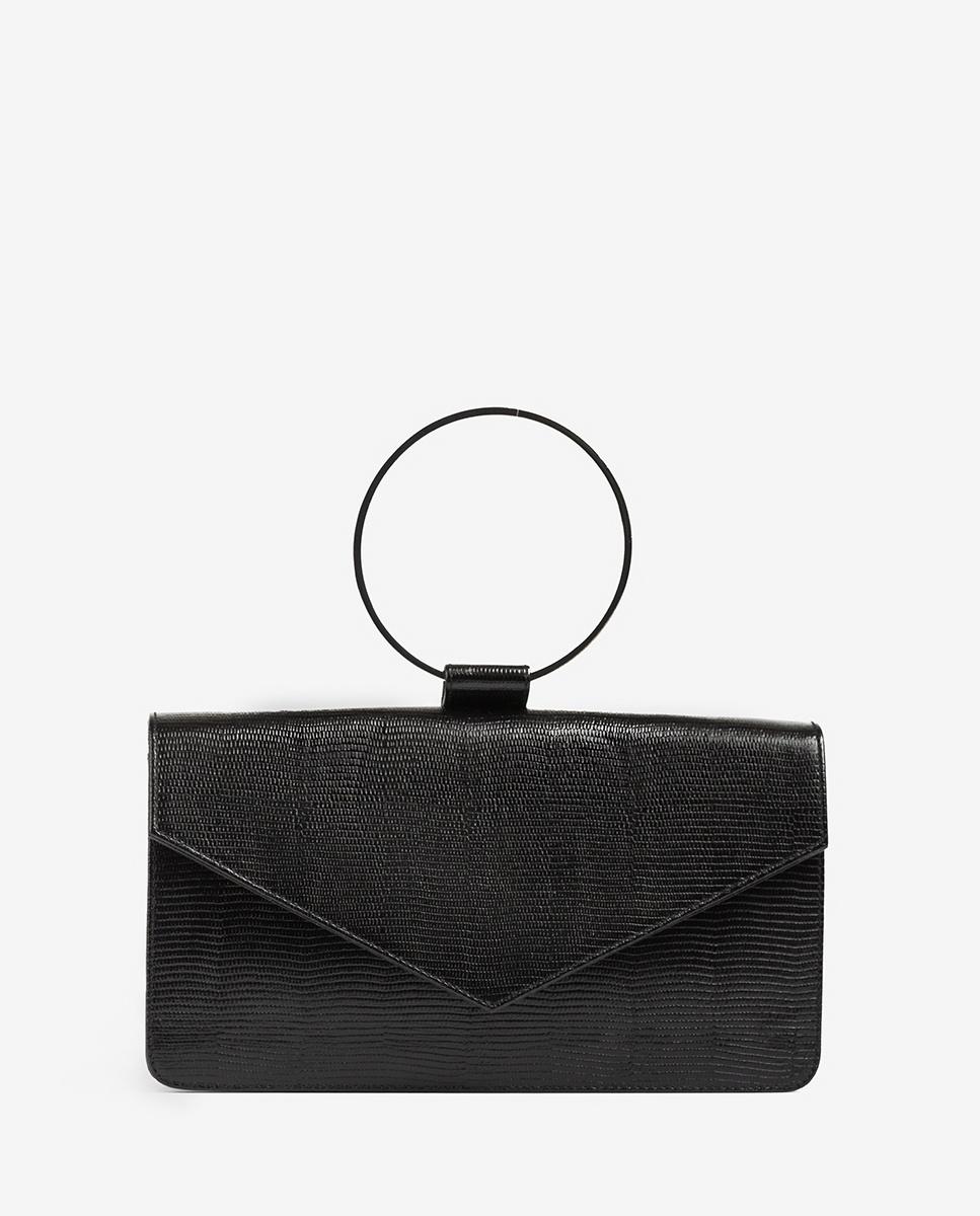 UNISA Metallic handle handbag ZGRANA_LI black 2