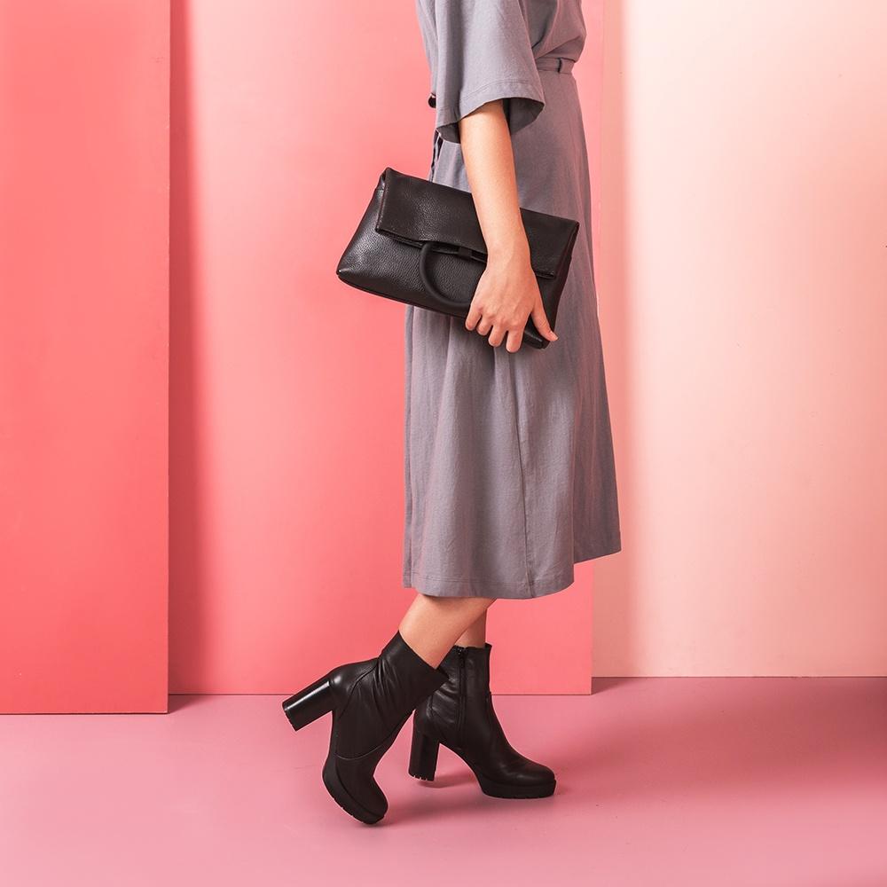 UNISA Leather handbag ZLILY_MM black 2