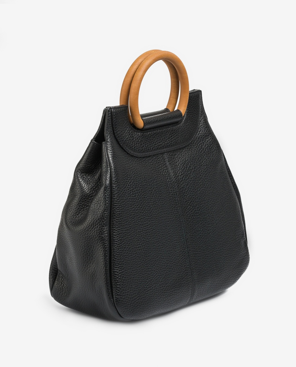 UNISA Leather handbag ZSALA_MM black 2