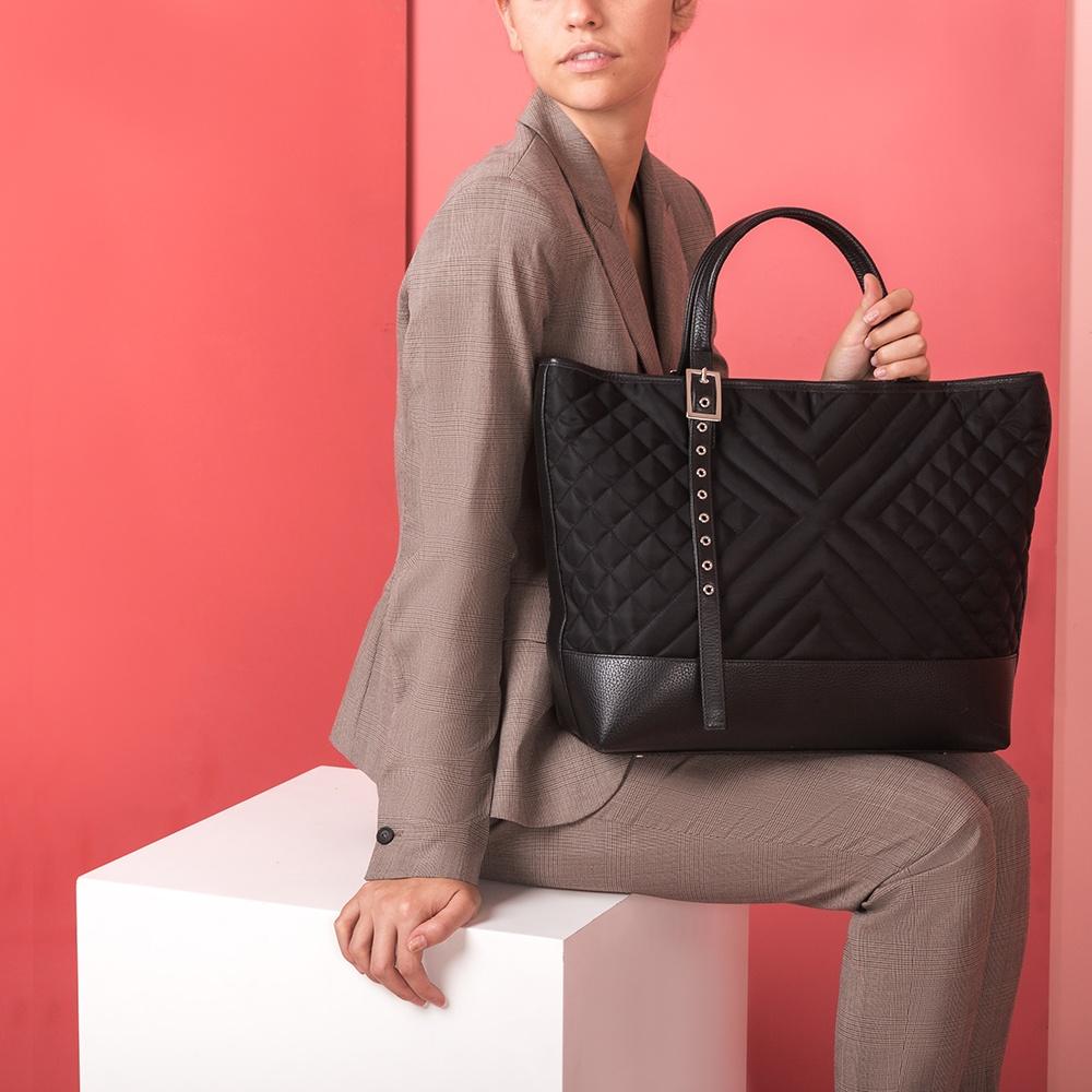 UNISA Black contrast tote bag ZTAREG_MM_NY black 2