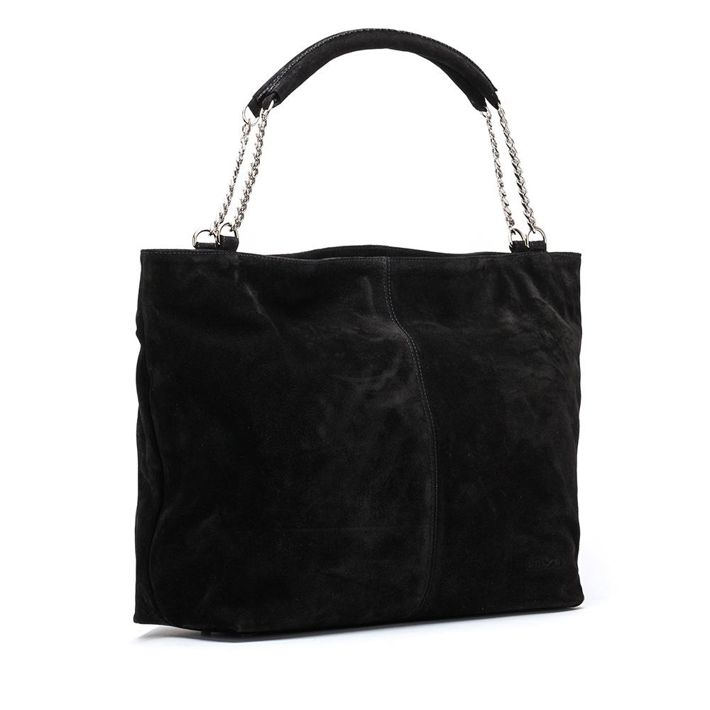 UNISA Black kid suede tote bag ZVOLGA_BS black 2