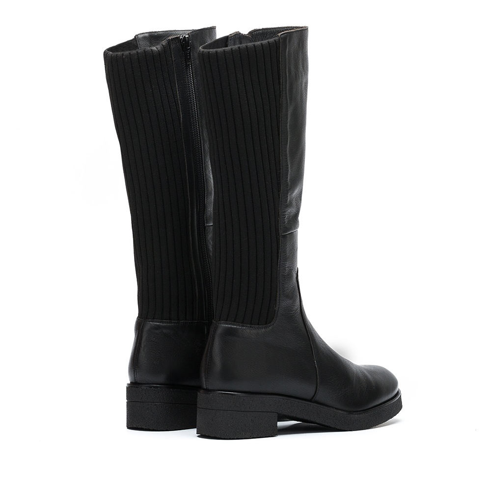 UNISA Leather booties sock contrast DOGUI_GLO black 2