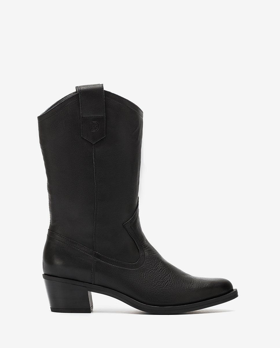 UNISA Black cowboy boots GLADIS_F20_CRE black 2