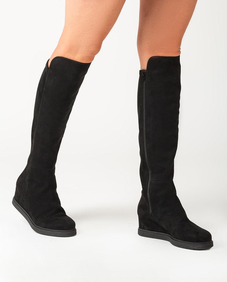 UNISA Black elastic wedge boots JEACON_ST black 2