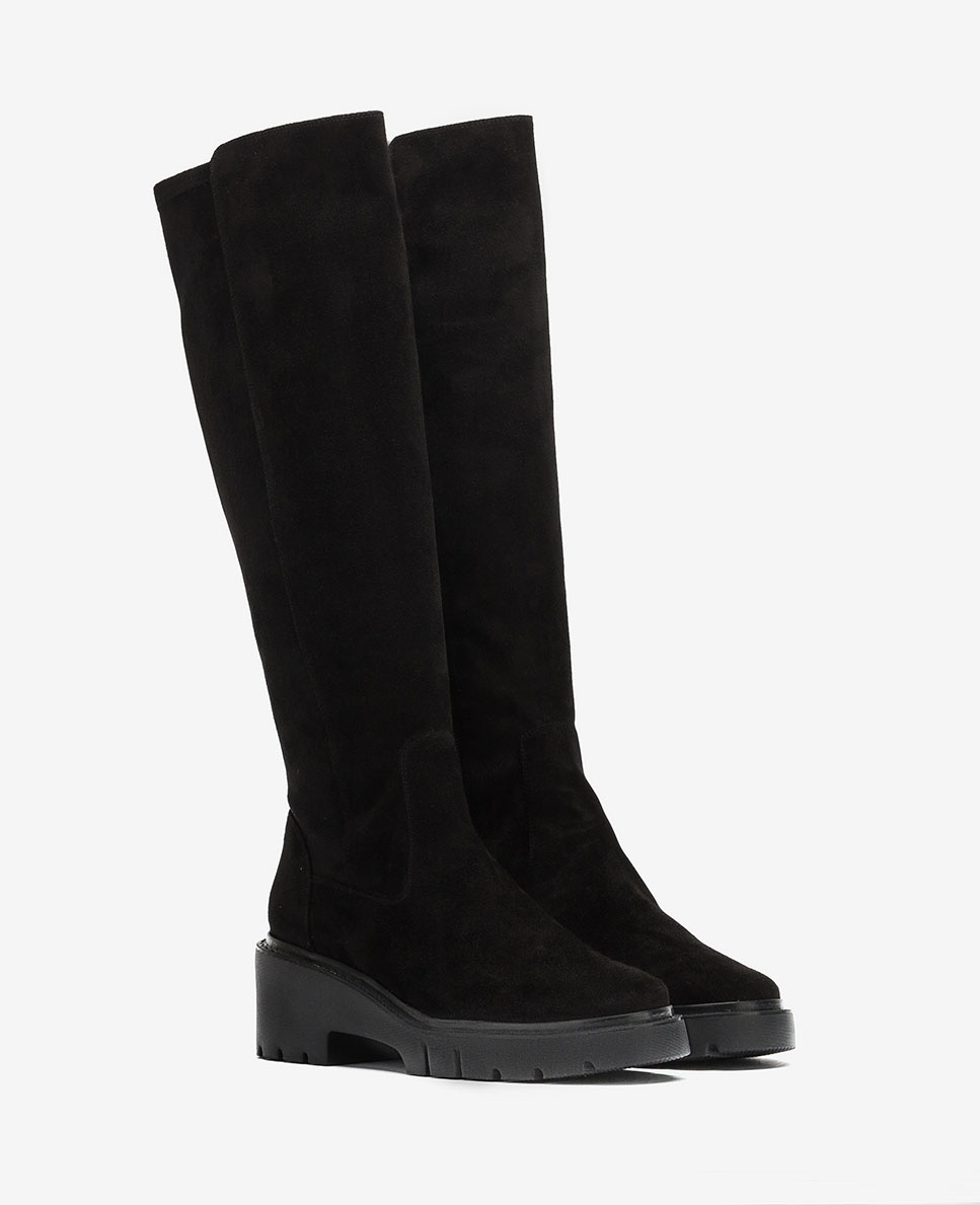 UNISA Elastic boots with track sole JELIZA_ST black 2