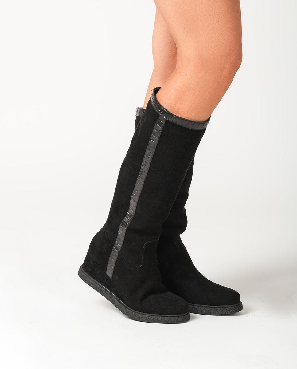 UNISA Wedge slouch boots JISCO_BS_MAL black 2