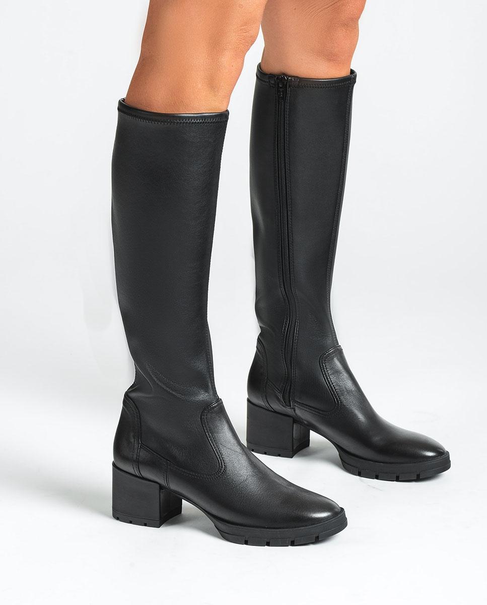 UNISA Black elastic boots JOSAN_VU_STN black 2