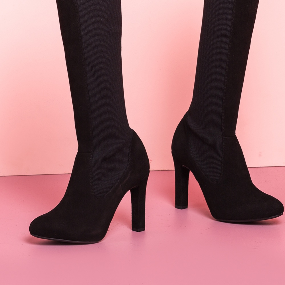 UNISA Heeled boots with sock PEDREO_F19_KS black 2