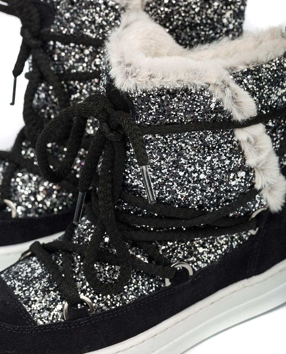 UNISA Après-ski glitter booties ADISON_F20_BS_GL  black 2