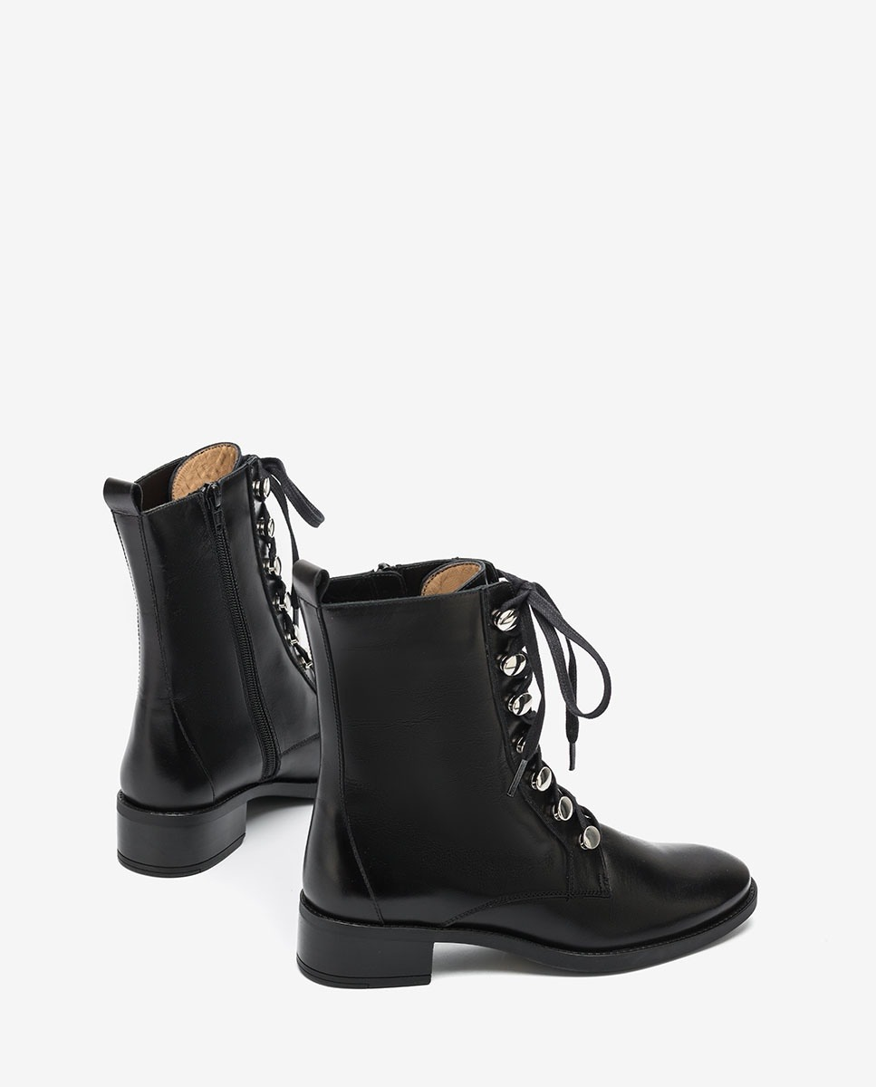 UNISA Black lace up ankle boots EUGEN_F20_NE black 2