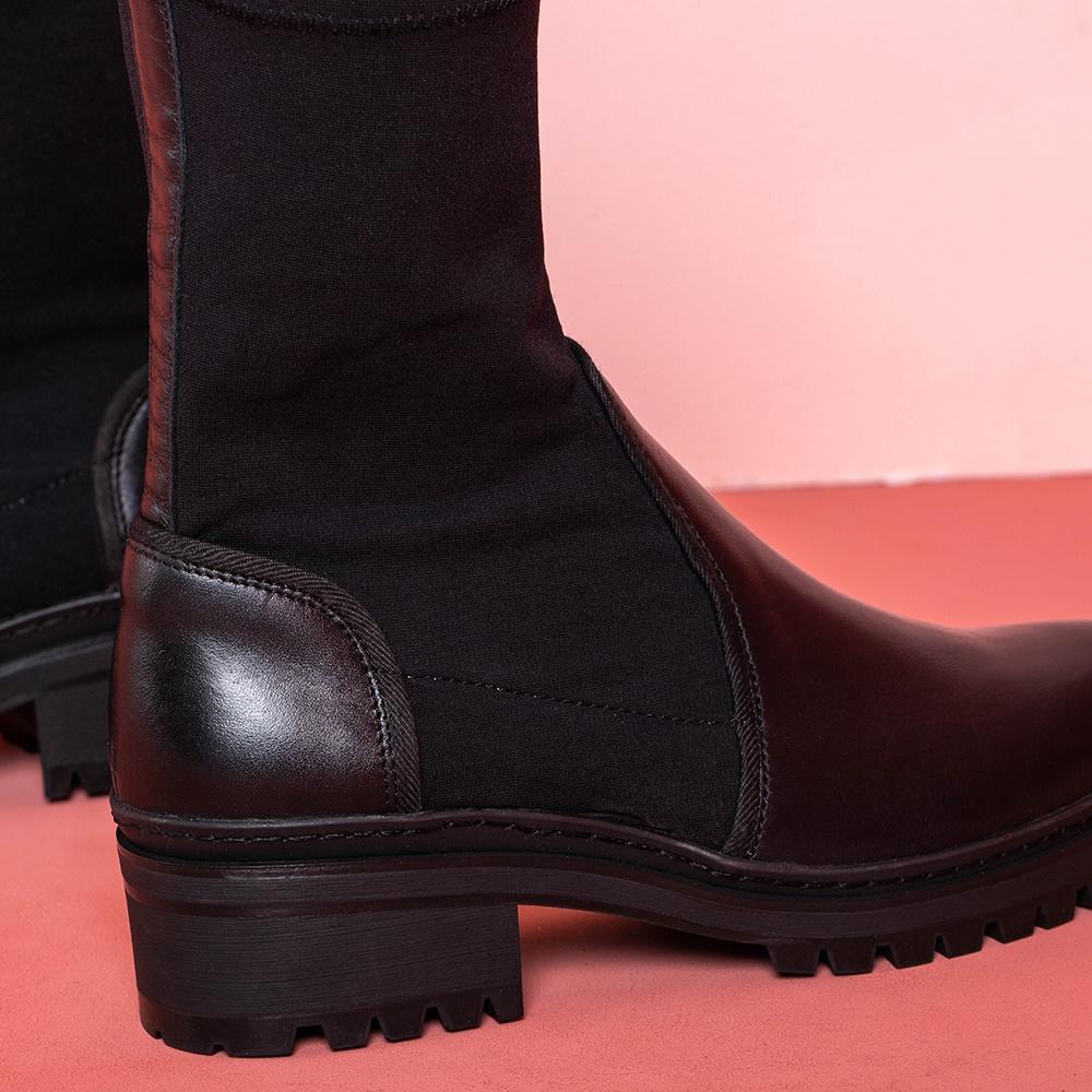 UNISA Black booties elastic shaft IBER_CLF_SCU black 2