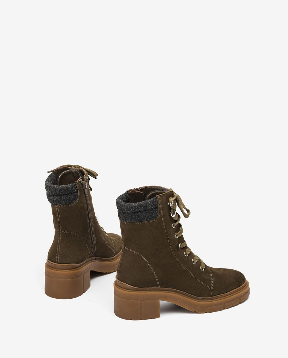 UNISA Green mountain ankle boots with ecowool JARACO_BLU hunter 2